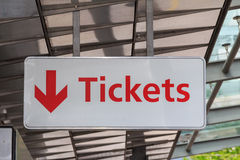 Tickets sign Stock Photo