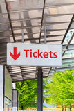 Tickets sign Royalty Free Stock Photo