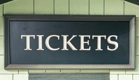 Tickets Sign. At an Amusement Park Stock Photos