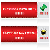 Tickets for St. Patrick's Day Royalty Free Stock Image