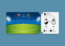 Tickets template design for football or soccer match. Gift vouchers or certificate coupons. Vector. Tickets template design for football or soccer match. Gift vector illustration