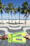 Tickets to Football Soccer Final Event in Copacabana Rio Brazil Royalty Free Stock Photos