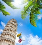 Tickets to leaning tower in Pisa Stock Photo