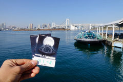 Tickets of Tokyo Cruise boat Stock Photos