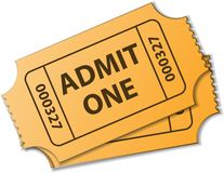 Tickets. Two tickets with text. eps10 Royalty Free Stock Photography
