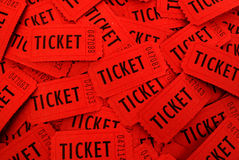 Tickets Used for Entrance into an Event stock photos
