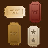 Tickets Vectors Royalty Free Stock Images