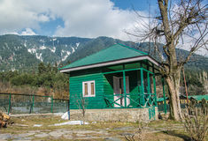 Ticketstand im pahalgam Stockfoto