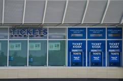 Ticketstand am Kauffman Stadium Stockbild