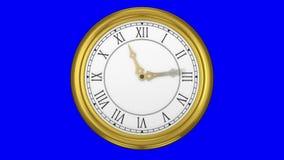 Ticking clock on blue background vector illustration