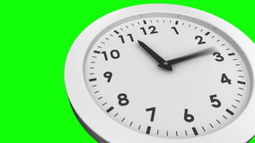 Ticking clock on green background stock video