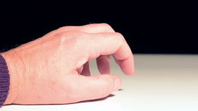 Ticking the fingers. Ticking of the fingers of a person waiting stock video footage