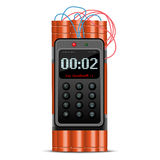 Ticking time bomb. Realistic illustration of ticking time bomb - danger/security motive/icon Stock Image