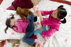 Tickling feet Stock Images