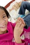 Tickling feet Stock Photo