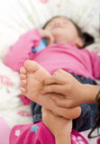 Tickling feet Royalty Free Stock Image
