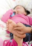 Tickling feet Royalty Free Stock Image