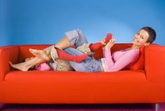 Tickling play Stock Images