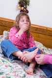 Ticklish Foot Stock Images
