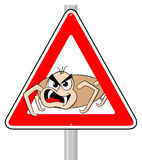 Ticks warning sign Royalty Free Stock Photos