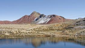 Ticlio Peru Arkivfoto