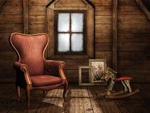 Ático de la vendimia Foto de archivo libre de regalías