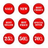 Ticons de vente Photo stock