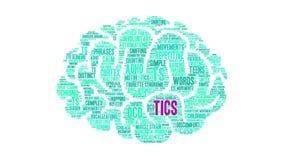 Tics animated word cloud stock illustration