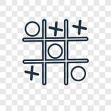 Tictac het vector lineaire die pictogram van het teenconcept op transparante B wordt geïsoleerd stock illustratie