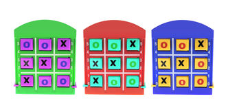 TicTac Toe Games Royalty Free Stock Photography