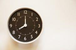 Tid är 8:00 Arkivfoto