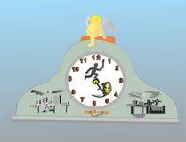 Tid är alternativ nummer 2 stock illustrationer