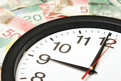 Tid är pengar arkivfoto
