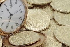 Tid är pengar royaltyfria foton