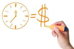 Tid är pengar Fotografering för Bildbyråer