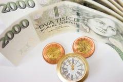 Tid är pengar 16 Arkivbild