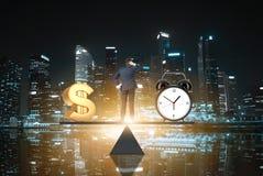 Tid är pengar Singapore Royaltyfri Fotografi