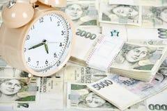 Tid är pengaraffärsidéen Royaltyfri Foto