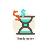 Tid är pengaraffärsidéen Arkivbild