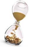 Tid är pengarbegreppet Arkivfoto