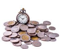 Tid är pengarbegreppet Royaltyfri Fotografi