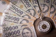 Tid är pengarbegreppet Arkivbild
