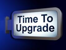 Tid begrepp: Tid som ska förbättras på affischtavlabakgrund Arkivfoto