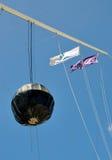 Tid boll med flaggor: Det runda huset i Fremantle Arkivfoto
