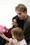tid för 02 familj Arkivbilder