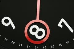 tid för 8 klocka o Arkivfoton