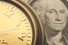 tid för affärsidéfinanspengar Arkivbild