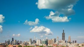 Tid för Chicago horisontstad schackningsperiod arkivfilmer