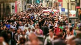 Tid för fot- trafik för stad schackningsperiod Bryssel stock video