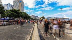 Tid för fot- trafik för stad schackningsperiod Rio Zoom lager videofilmer